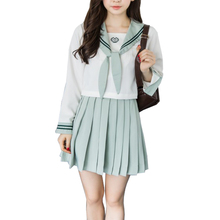 school uniforms for girls Long sleeves japanese high school uniform set skirt girls Short sleeves korean school uniforms