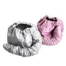 Портативная мягкая шапочка для высыхания волос Капот Шляпа насадка для фена Уход за волосами случайный цвет переносная шляпа здоровье красота капюшон Мода