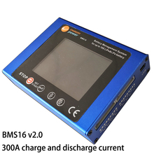 משלוח חינם 300A BMS 2S   16S LiPo חיי סוללה ניהול מערכת TFT LCD תצוגת ליתיום lifepo4 ליתיום chargery BMS16 V2.0