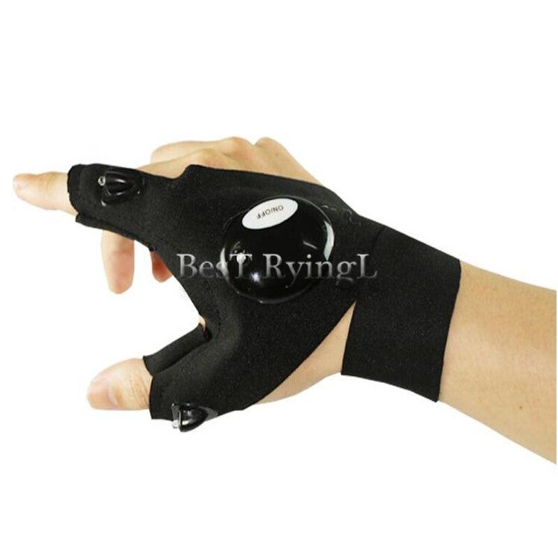 Y1g 1pcs Right Hand  Lighting Glove Night Car Repair Glove Led Light Night Fishing Lamp Glove