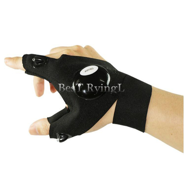 Y1G 1pcs Right hand  Lighting glove Night car repair glove led light Night fishing lamp glove