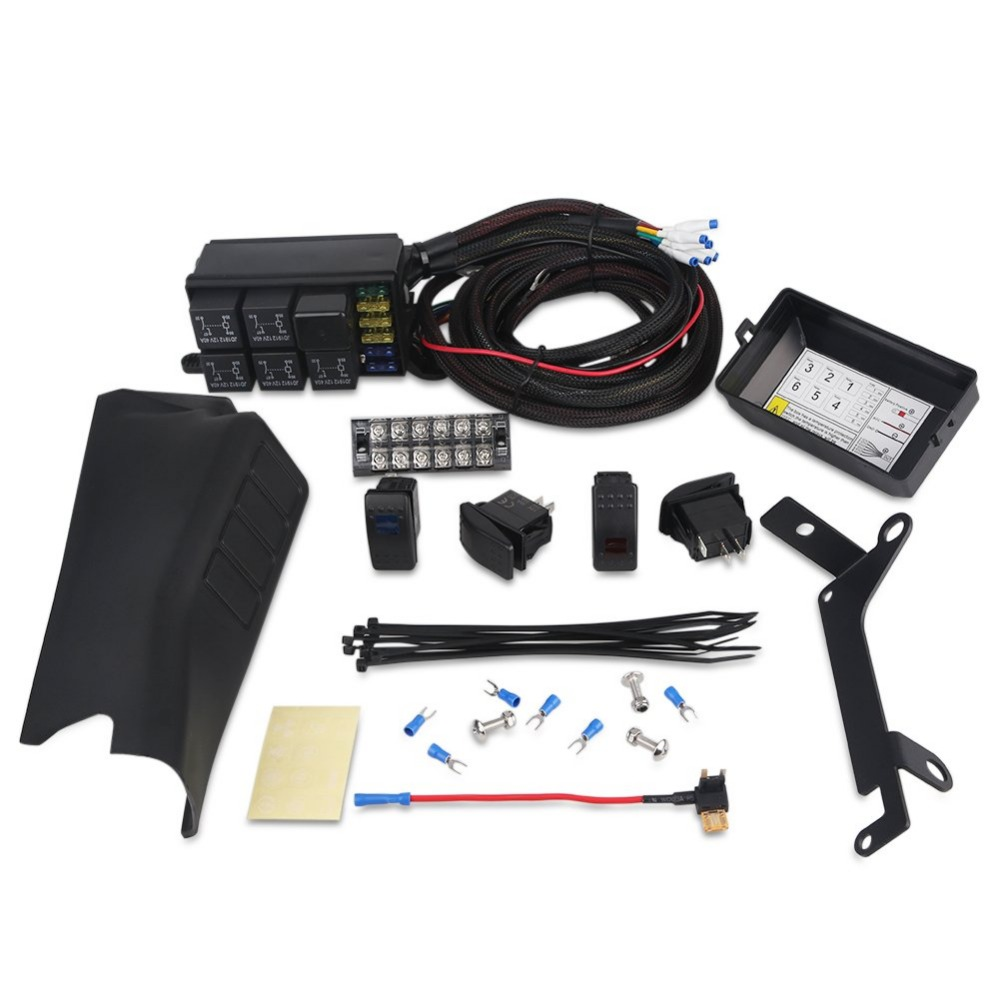 A Pillar Switch Pod And Fuse Relay Box Source Control System For Jeep Wrangle Jk Jku 2007 2018