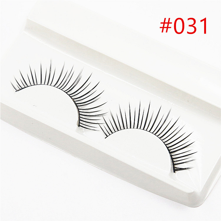 New 1 Pair Peach Heart False Eyelashes Korea Natural Naked Makeup Long Mink Eyelashes Handmake Eye Lashes Makeup Kit Gift #022 Beauty Essentials