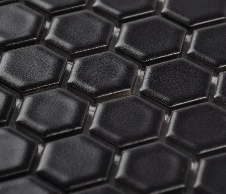 Online kopen wholesale zwarte hexagon tegel uit china zwarte ...
