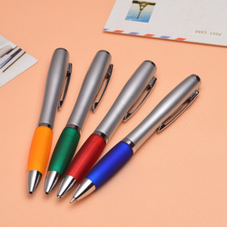 Fast shipping 1000pcs/lot DHL supply quality lamp pen LED lamp ball point pen plastic advertising gift pen