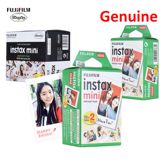 Fujifilm Instax Mini 8 9 Film 10 20 30 40 50 60 Sheets for Camera Instant Mini 7s 25 50s 90 Photo Paper White Edge 3″ Wide Film