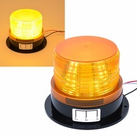 Car Styling 12V 24V Car LED Flashing Strobe Beacon Emergency Warning Alarm Flash Light Lamp Amber