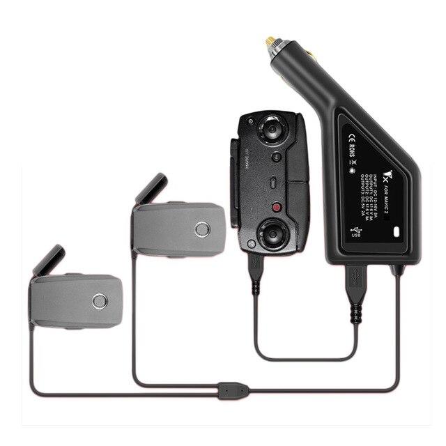 Autolader Voor Dji Mavic 2 Pro Drone Batterij Met 2 Batterij Poorten Opladen Snel Opladen Vervoer Reizen Outdoor Oplader