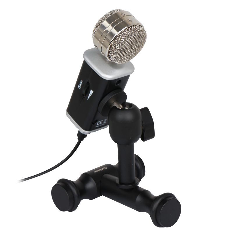 Alctron K5 Professional USB Condenser Microphone Studio for PC Laptop Chatting Audio Recording Condenser Mic New best quality yarmee multi functional condenser studio recording microphone xlr mic yr01