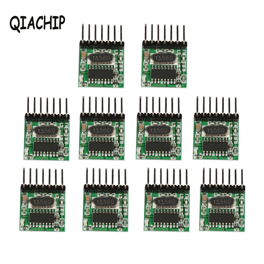 QIACHIP 10Pcs Mini 433MHz RF Transmitter Module Learning Code EV1527 DC 12V Wireless DIY Remote Control Switch For Garage Door leftside fashionable 2017 women tassel designer rivet boston bag female handbag woman hand bags shoulder bag with wide strap