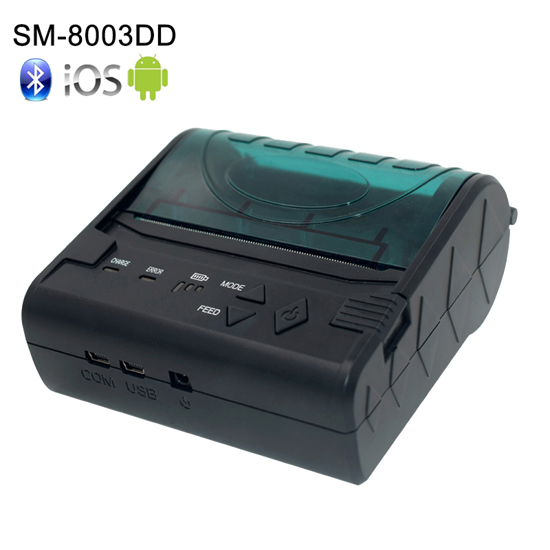 New 80mmx40mm Thermal Paper Roll Mini Portable Mobile Thermal Receipt Printer Bluetooth 80mm Support IOS/Android/MAC/Windows