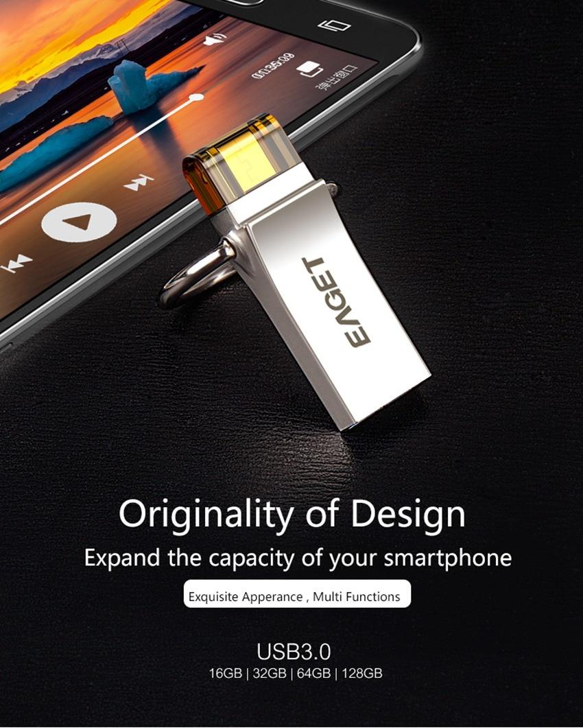 Eaget Usb Flash Drive 32gb 30 Pen 16gb Pendrive 64gb Flashdisk Samsung Otg Micro U Disk Storage Stick For Phones Pc