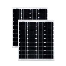 Solar Panel 12v 50w 2 Pcs Monocrystalline Paneles Solares 100w 24v Battery Charger Car Caravan Roof Smartphone Voiture