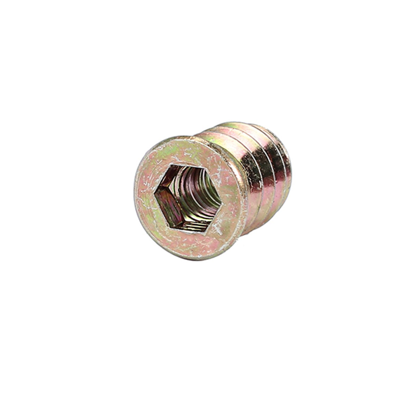 Threaded Hex Nut Galvanized Carbon Steel Woodworking <font><b>M8x15</b></font> 20pcs Screw Set Fasteners Drive Industrial Accessories image