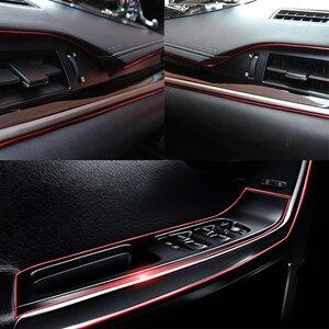 Image 5 - 5M Auto Styling Innen Zubehör Streifen Aufkleber Für Kia Rio K2 3 Ceed Sportage Sorento Cerato Armlehne Seele Picanto optima K3