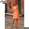 Modern Long Orange Two Piece Lace Back Zipper Formal Women Dress Plus Size Mother of the Bride Lace Dresses With Jacket