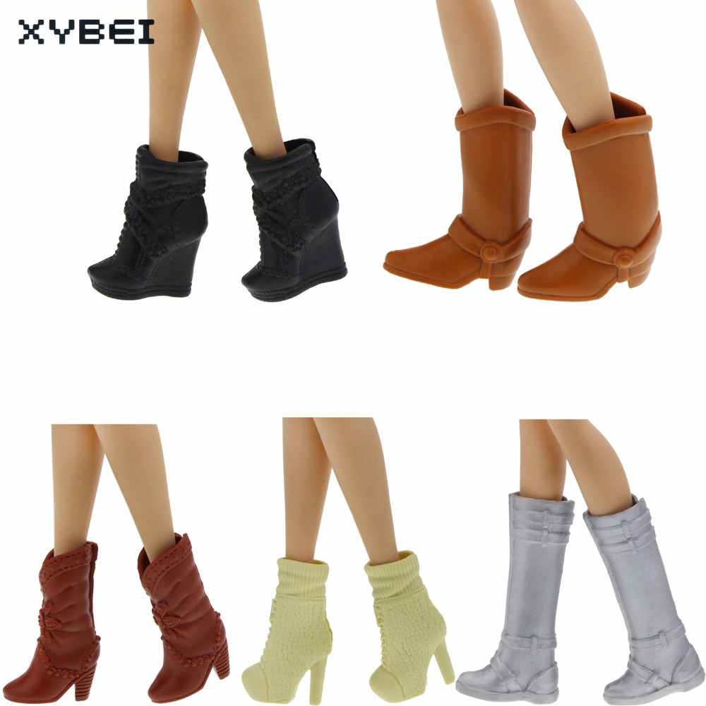 Excellent Quality Boot Mixed Style High Heel Evening Party Wear Shoes For Barbie Doll Clothes Dress Accessories Kids Gift Toy 500pairs lot wholesale high quality high heel shoes for 30cm dolls mixed styles sandals slippers 10pairs pack doll shoes pack