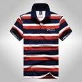 Новый Tace & Shark мужская polo рубашка бренды высокое качество хлопка полосатый коротким рукавом polo homme человек удобные прохладный shark логотип polo