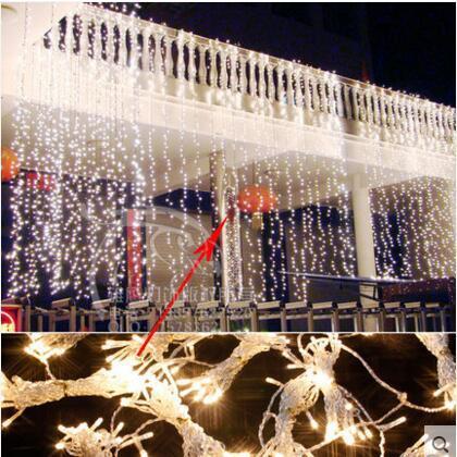 Ano novo Cristmas Luzes Led Ao Ar Livre Para A Festa de Casamento Decoração 10x3 m Guirlanda de Natal Luzes Led Cortina De Luz conduzida Da Corda