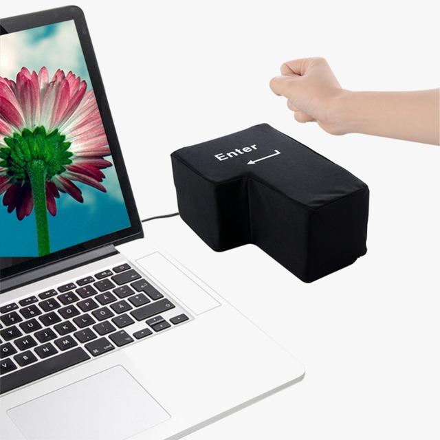 Big USB Enter Key Anti Stress Button  For Desktop Laptop