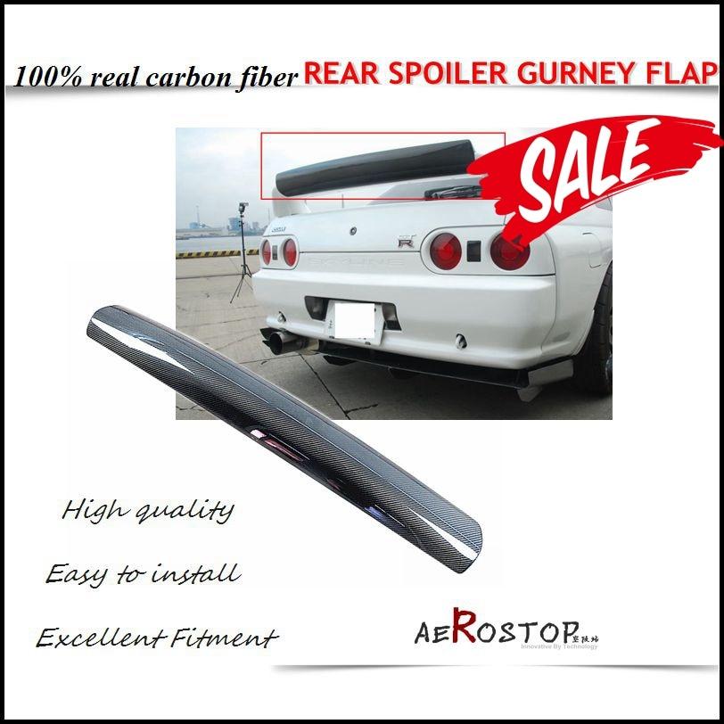 R32 GTR FUJIMURA STYLE REAR SPOILER GURNEY FLAP CARBON FIBER maserati granturismo carbon spoiler