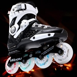 Multi colors professional skates shoes unsex fancy single row roller skates adult inline skates universal skating.jpg 250x250