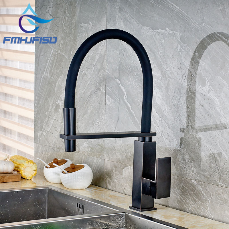 ✓Deck Mounted Oil Rubbed Bronze Kitchen Faucet Pull Down Vessel ...