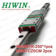 HIWIN MGN7C miniature MGN slider with 250mm MGNR7 linear guide rail 7 mm for 3d printer High efficiency CNC parts MGN7