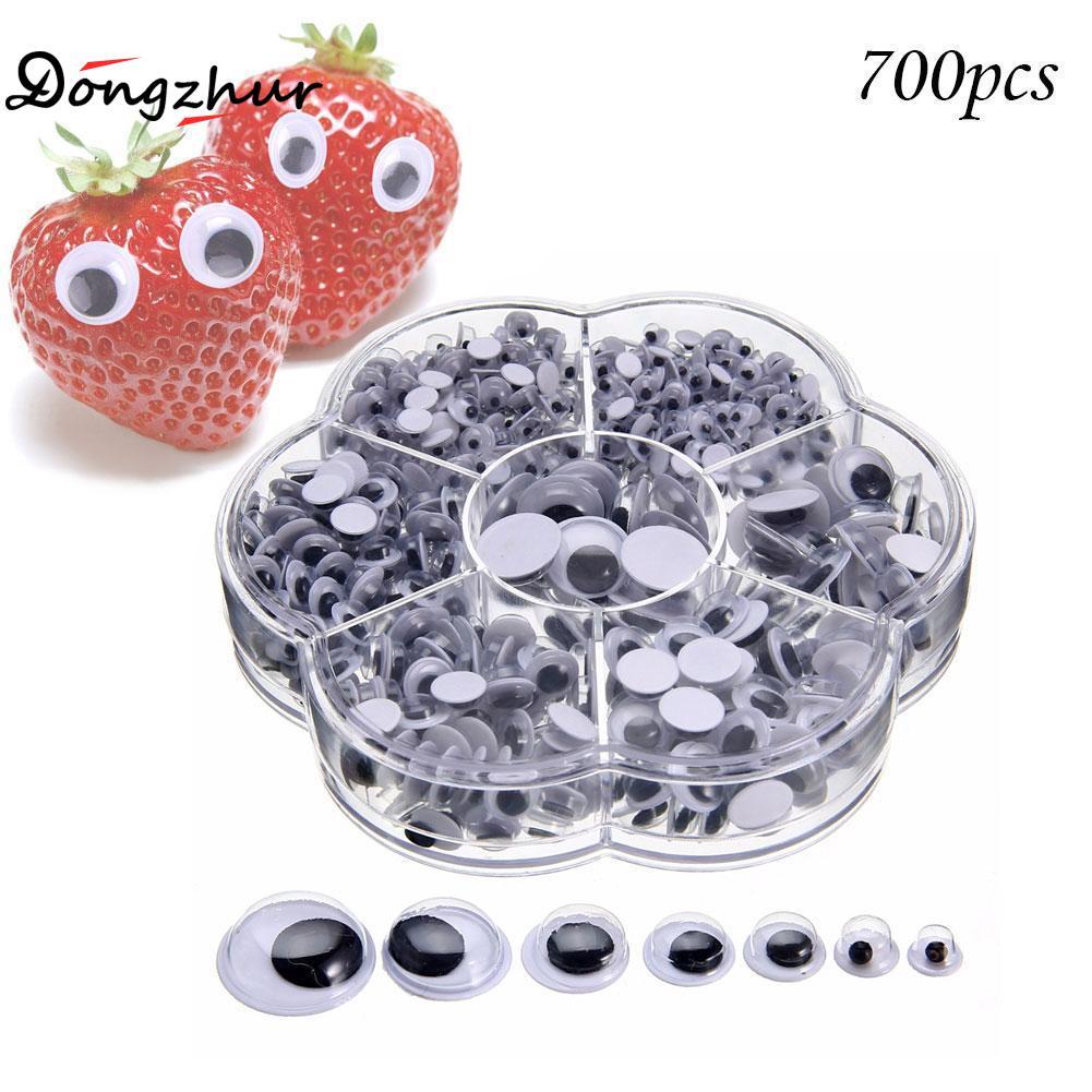 700PCS 4-12mm Wiggly Wobbly Googly Eyes Self-adhesive Scrapbooking Crafts Mixed Kids DIY WWP5356 цены онлайн