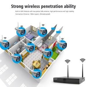 Image 4 - 4CH 8CH 1080P Kit NVR inalámbrico sistema de cámaras de seguridad para el hogar 1.0MP 2MP HD Video vigilancia CCTV sistema de cámara exterior wi fi NVR