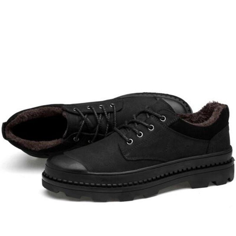 Otoño invierno caliente venta hombres plataforma zapatos de cuero - Zapatos de hombre - foto 3