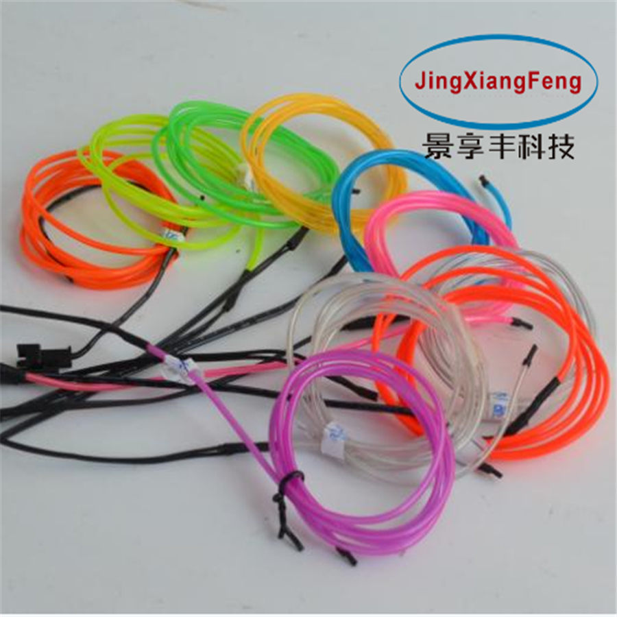 JingXiangFeng DIY Led Decoration Neon Light 12V 1-5 Meters Auto Car Interior LED Flexible EL Cold Wire Rope Tube Line Dashboard jingxiangfeng 1 5 meter neon light car decoration light neon led lamp flexible el wire rope tube waterproof led strip with 12v