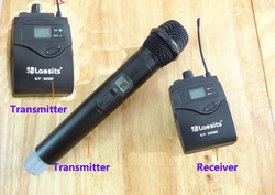 Handheld Wireless Microphone System for DSLR Camera Shooting Interview Recording, 2 transmitter+1 receiver, Aluminum box packing