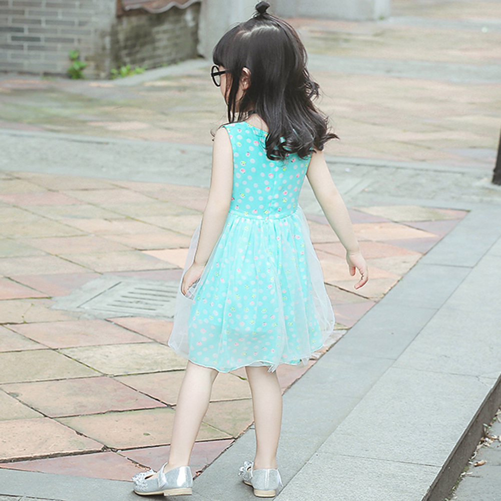 Summer Baby Girls Clothing Blue Yellow Cute Princess Dress Sleeveless O-neck Wedding Sequined Dress