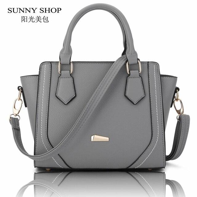 Sunny shop 2017 primavera nueva trapeze bolsa de las mujeres bolsa de mensajero mujeres de la moda americana de alta calidad de cuero de la pu bolsas de hombro