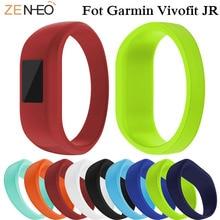 цена Soft Silicone Children Wristband Bracelet For Garmin VivoFit JR/JR2 Strap Watchband Replacemet For Garmin Vivofit JR watch band онлайн в 2017 году