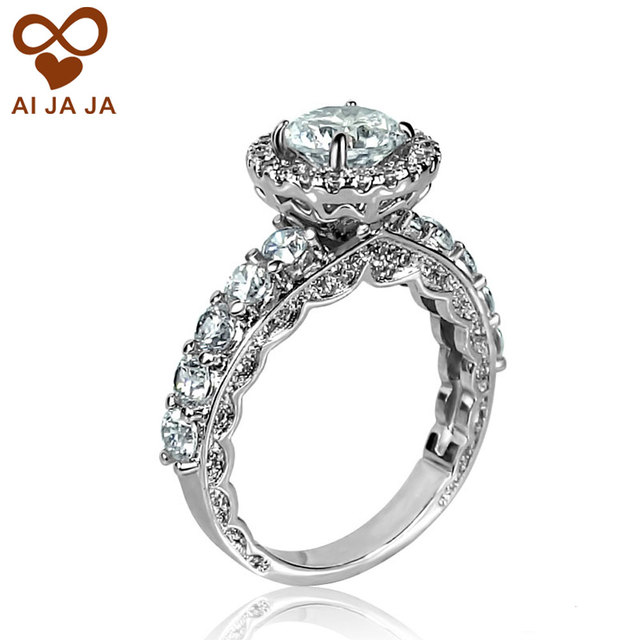 CZ Paved Vintage Wedding Rings For Women Engagement Rings Bague