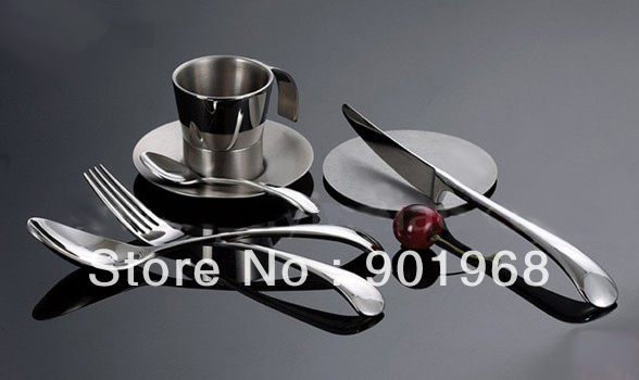 stainless steel  steak knife and fork set-table ware set-4pcs set