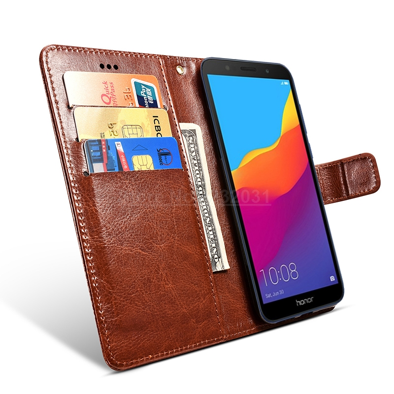 Luxury Leather <font><b>Case</b></font> <font><b>For</b></font> <font><b>Huawei</b></font> Honor 7A DUA-L22 AUM-L29 7C AUM-L41 7c Pro LND-L29 <font><b>Flip</b></font> <font><b>Case</b></font> <font><b>for</b></font> <font><b>Huawei</b></font> <font><b>Y5</b></font> Y6 Y7 Prime <font><b>2018</b></font> Capa image