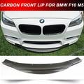 Углеродного волокна передняя M5 бампер нижней губе спойлер для BMW F10 M5