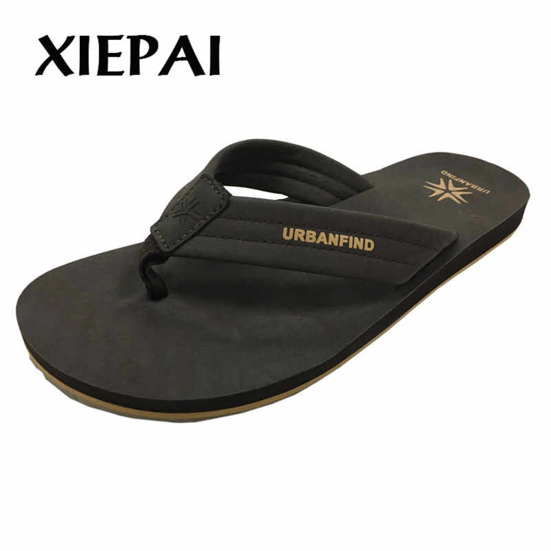 52b8a61e8 ... 2019 New Arrival Men Casual Summer Flip Flops Size 41-46 Solid Color Man  Slippers ...