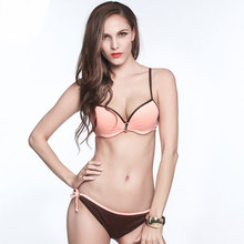 Plus size Strappy Bikinis Women Swimsuit Solid 3 Colors Adjustable Low waist Swim Wear Push Up New Sexy Micro Bikinis Beachwear