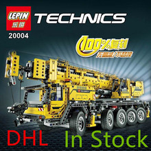 NEW LEPIN 20004 technic series 2606pcs Motor power mobile crane MK Model Building blocks Bricks Boys Gift Gift