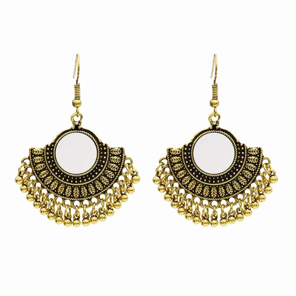 af0fc5b68 ... Thailand Vintage Silver Gold Bells Statement Earrings for Women Bohemia Jhumka  Earrings Egypt Gypsy Tribal Party ...