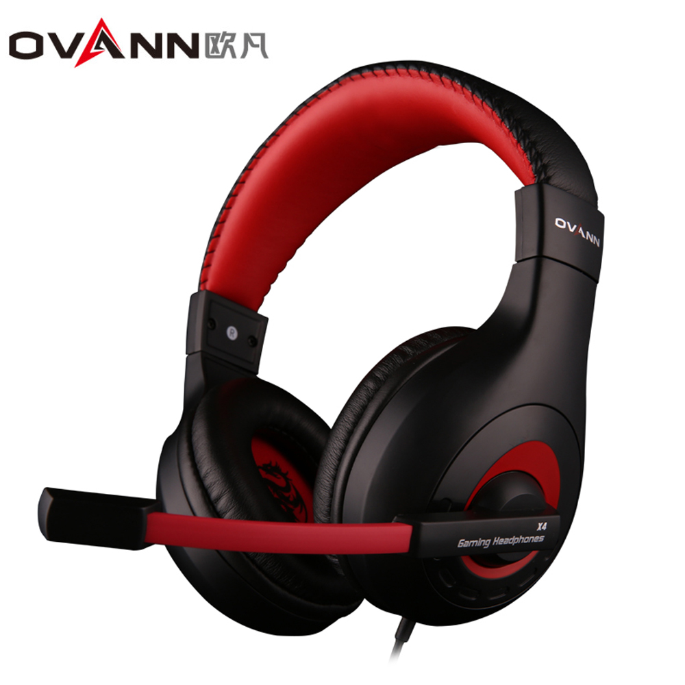 OVANN X4 Wired Headphones Gaming Headsets with Microphone Volume Control 3.5mm Audio Jack Earphones Low Bass Stereo touchstone teacher s edition 4 with audio cd