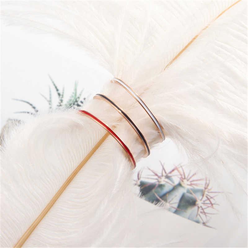 Ailodo เรียบง่ายแหวนหมั้นสำหรับผู้หญิงไม่เคยจางหายสแตนเลสแหวนงานแต่งงานแฟชั่นเครื่องประดับของขวัญหญิง LD405