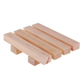 90x80x19mm Natural Wooden Dry Soap Holder Leaking Soap Dishes Storage Container Bathroom Hardware Ecological Care Pine Soap Box