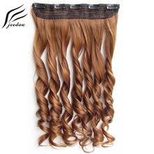 Jeedou волнистые волосы на клипсе 1 шт накладные 5 клипсах 24