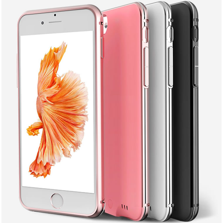 Цена за Ультра-Тонкий Металлический Каркас Слайд Внешняя Батарея Чехол для iPhone 7 Заряда Алюминиевый корпус Крышка Зарядное Устройство резервного копирования для 6 6 S Плюс 7 плюс