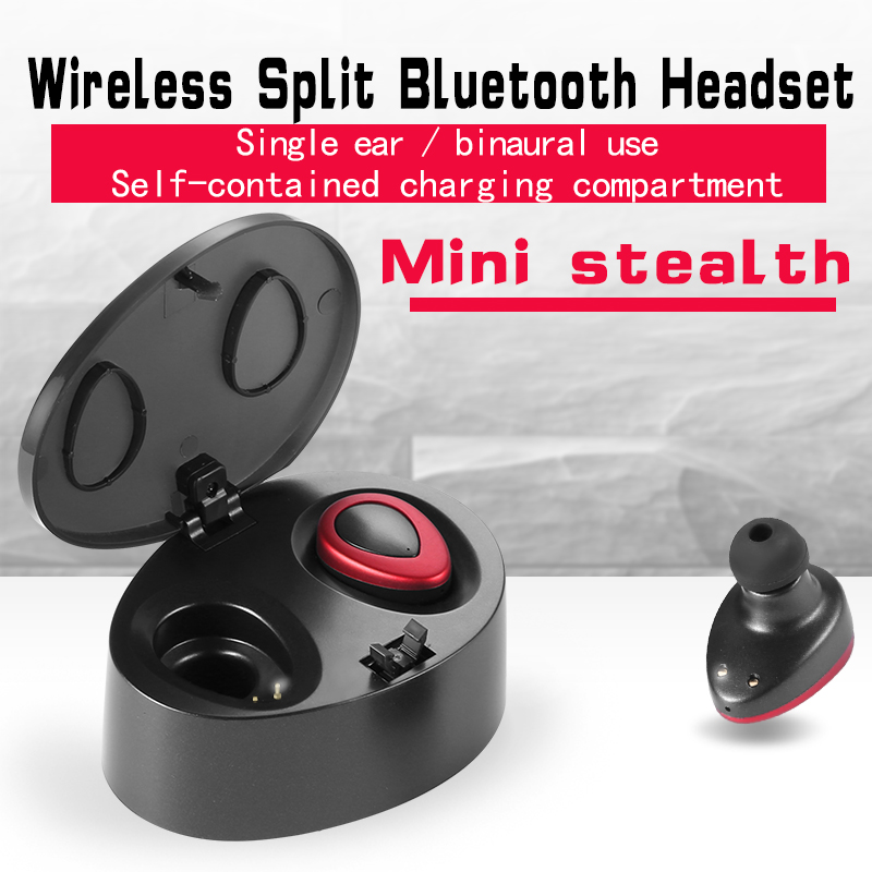 Business Bluetooth Earphones Wireless HD Stereo Earbuds Headset Power Bank With Microphone Handsfree Calls